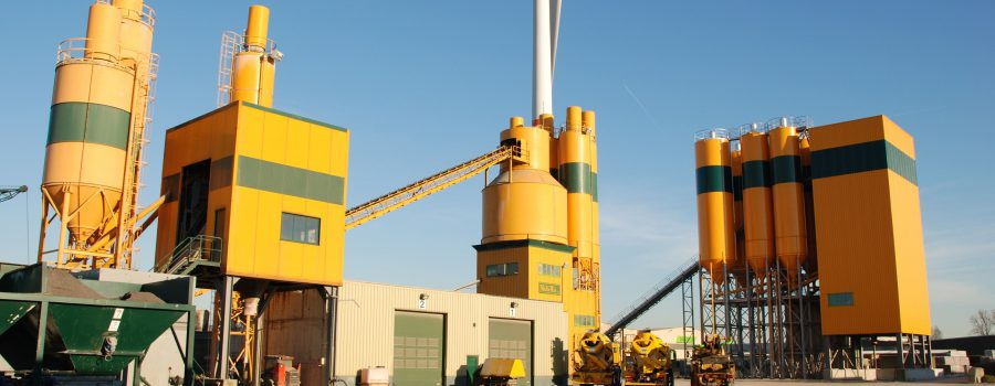 New concrete production plant supplied with abrasion-resistant liners
