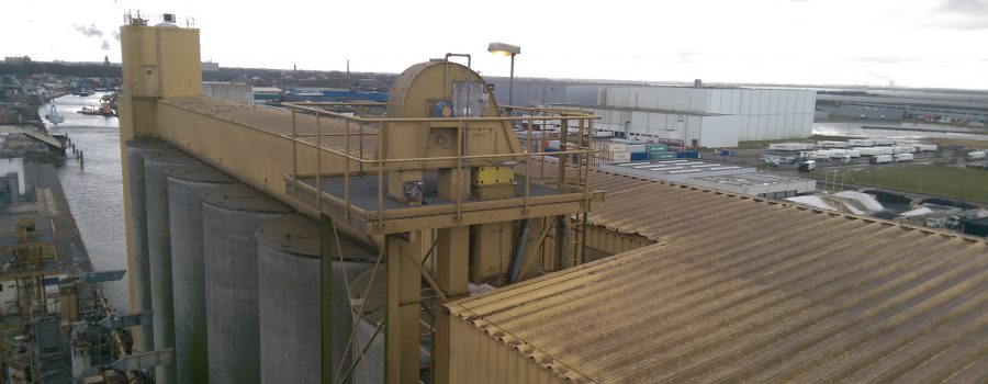 Inspection of wheat elevator to prevent stoppages