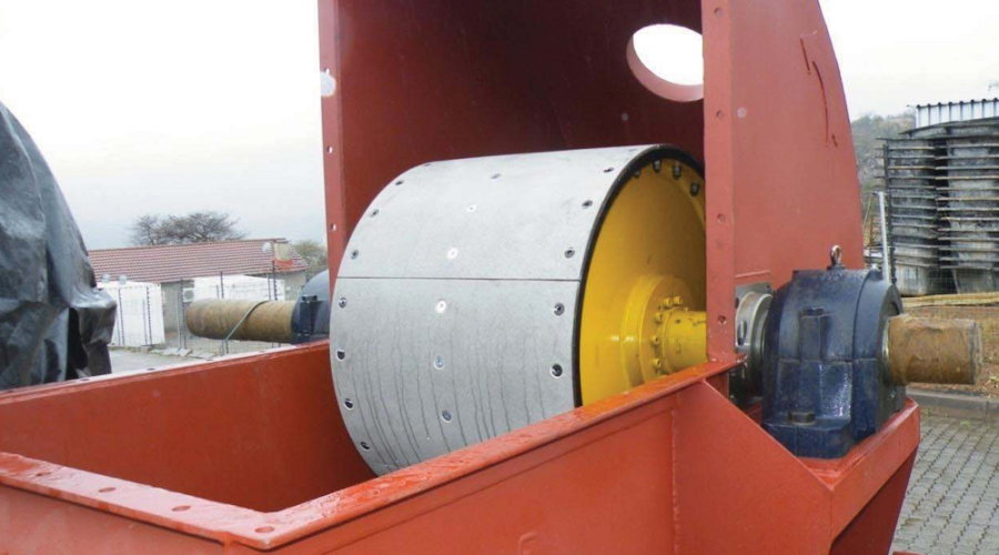 "METALLAG"" bucket elevator pulley lagging for high heat applications"